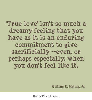 The feeling of true love