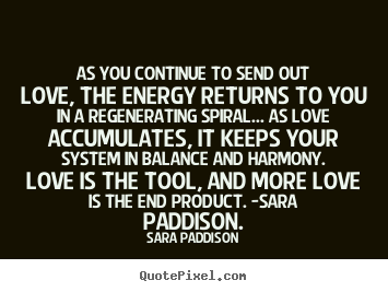 How to make photo quotes about love - As you continue to send out love, the energy..