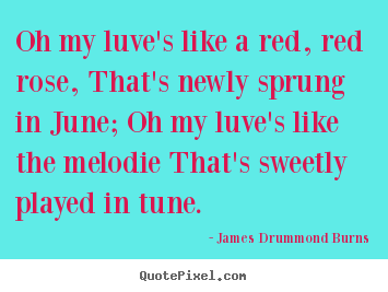 Love quote - Oh my luve's like a red, red rose, that's newly sprung..