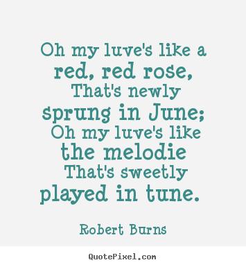 red red rose robert burns essay
