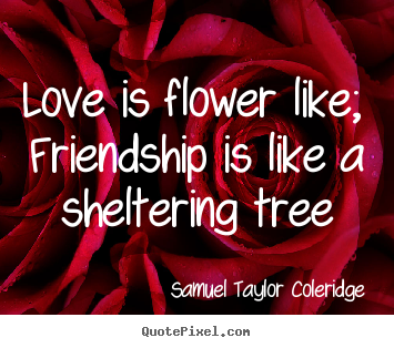 Flower Love Quotes Stunning Love Quote  Love Is Flower Like Friendship Is Like A Sheltering