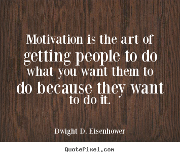 Quote about motivational - Motivation is the art of getting people to..