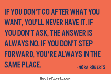 Motivational sayings - If you don't go after what you want, you'll never..