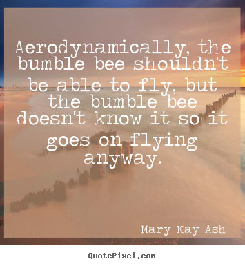 Motivational quotes - Aerodynamically, the bumble bee shouldn't be able..
