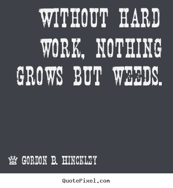 Quotes about motivational - Without hard work, nothing grows but weeds.