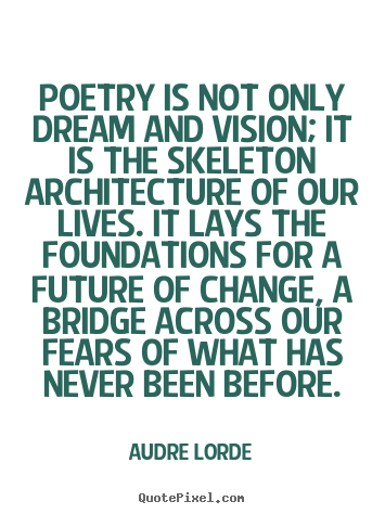 Create your own image quotes about motivational - Poetry is not only dream and vision; it is the skeleton architecture..