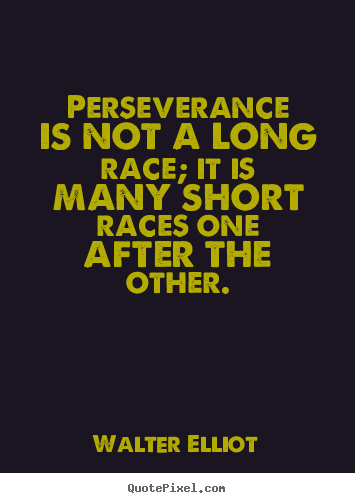 Inspirational Quotes About Perseverance Delectable Picture Quotes From Walter Elliot  Quotepixel