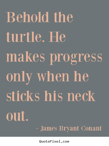 Behold The Turtle He Makes Progress Only When He Sticks James