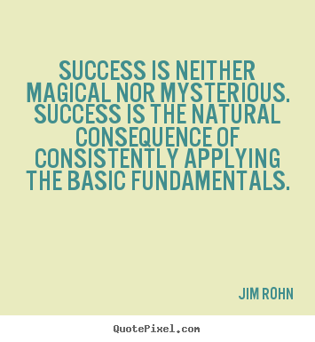Success is neither magical nor mysterious. success is the natural consequence.. Jim Rohn best success quote