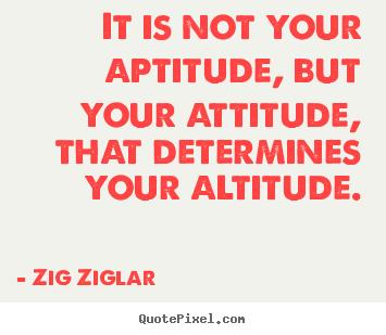 Aptitude + Attitude = Altitude