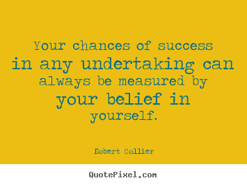 Create graphic picture quotes about success - Your chances of success in any undertaking can always..