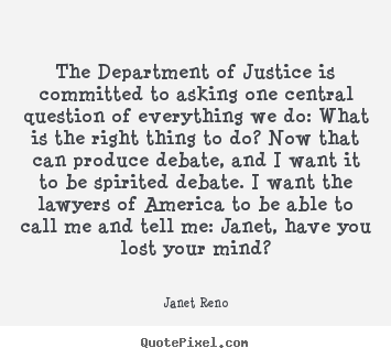 Success sayings - The department of justice is committed to..