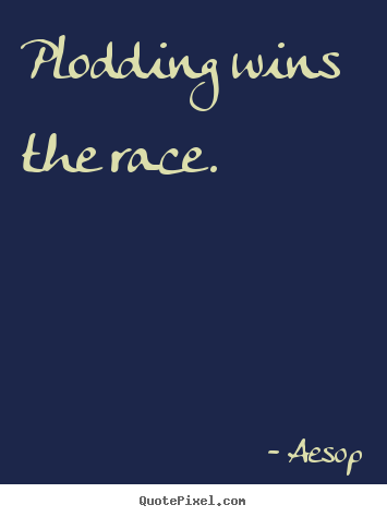 Success quotes - Plodding wins the race.