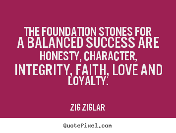 Create graphic picture quotes about success - The foundation stones for a balanced success..