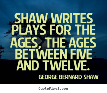 Make custom picture quotes about success - Shaw writes plays for the ages, the ages..