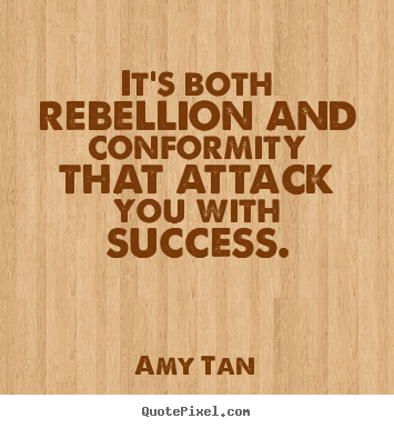 rebellion or reason in amy tans Annotated captions of amy tan on creativity in english  there was a reason for everything  was the taiping rebellion,.