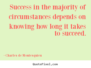 Design your own picture quotes about success - Success in the majority of circumstances depends on knowing..