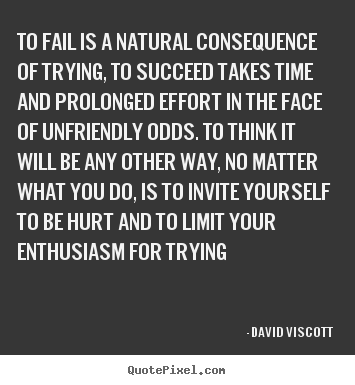 Create graphic picture quotes about success - To fail is a natural consequence of trying, to succeed..